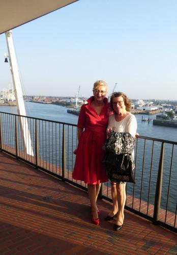 10. Nasza prezes z Clari, która pomogła nam w Hamburgu.