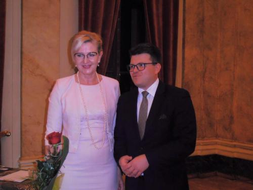 Prezes Elżbieta Gładysz z Dyrektorem Łukaszem Goikiem