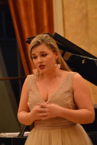 Gabriela Gołaszewska w czasie występu.