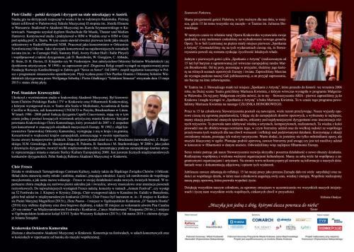 Folder koncertowy strona 1-4