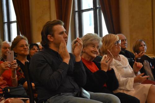 Na widowni Prof. Helena Łazarska i Andrzej Lampert