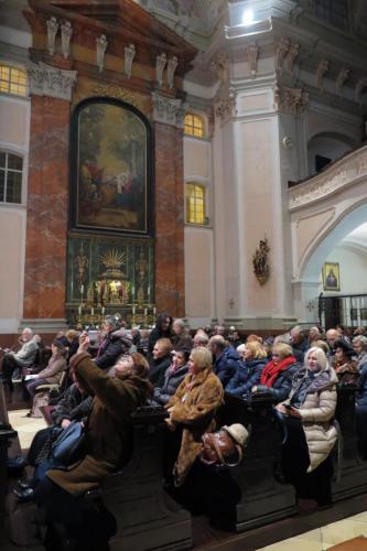 Wnętrze klasztoru Elżbietanek w Linzu