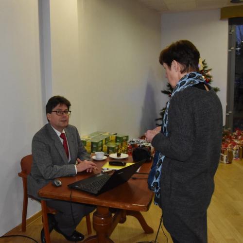 Ryszard Górniak i Agnieszka Wabik przygotowują się do prezentacji